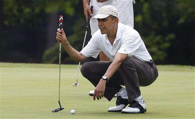 Обама сыграл партию гольфа