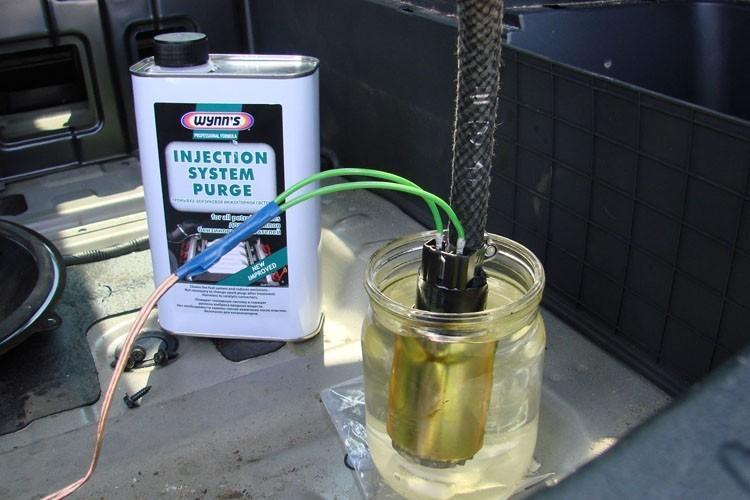 Промывка топливных форсунок