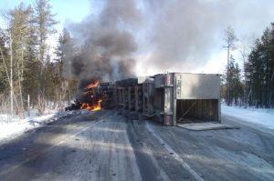 авария недалеко от Ханты-Мансийска