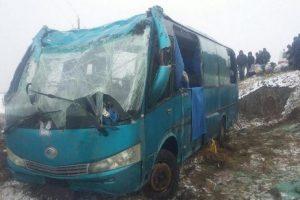 перевернулся автобус