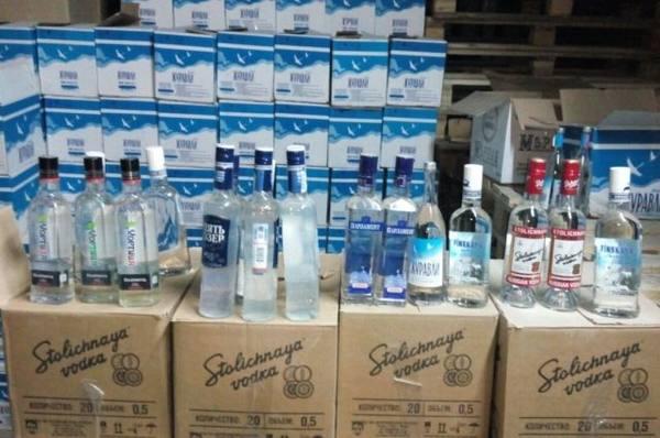 подпольный цех фальшивого алкоголя