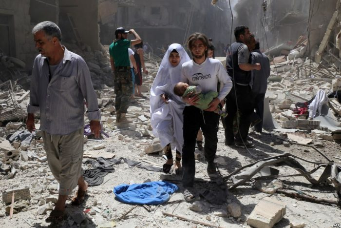 жители Алеппо