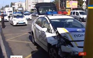 патрульный авто попал в аварию