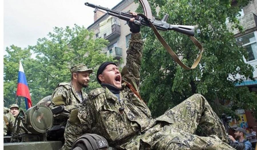 российские военные в Донбассе