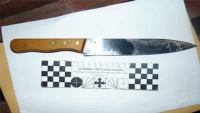 с ножом напали на охранника