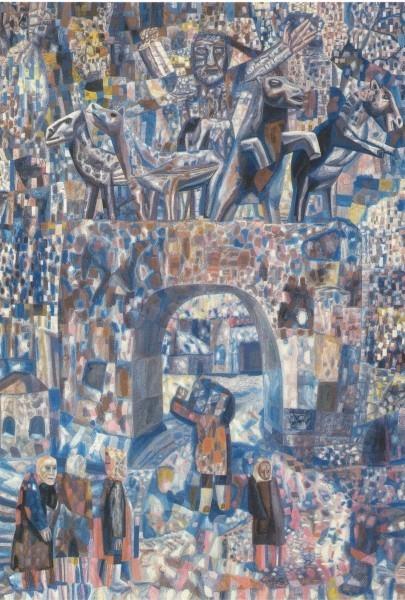 Павел Филонов. Нарвские ворота. 1929. Бумага, дублированная на ватман, м. 88 х 62